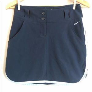 Nike Golf Tour Performance Blue Dri-Fit Skirt Sz 0